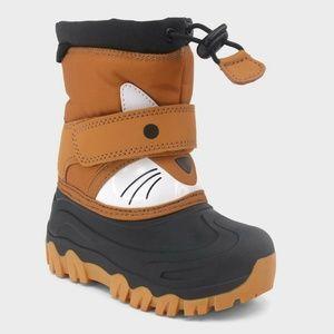 Cat & Jack Toddler Boys Bernardo Wolf Winter Boots